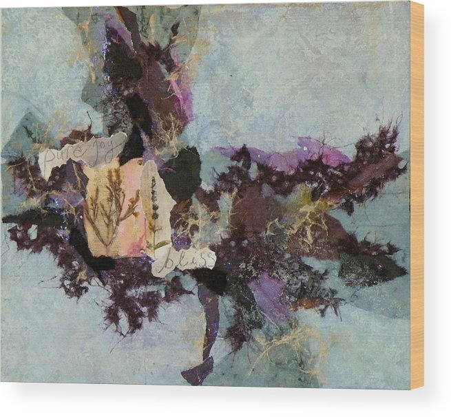 Mixed Media Wood Print featuring the painting Pure Joy by Tara Milliken