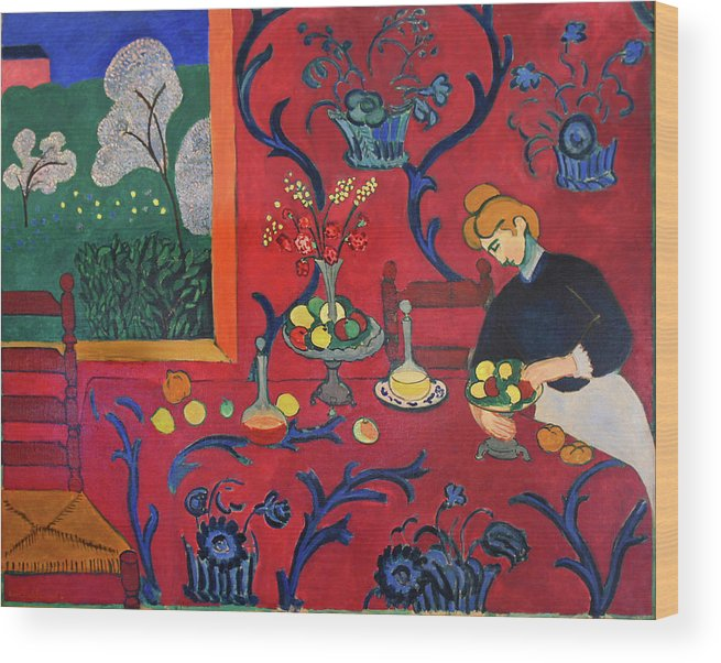 Henri Matisse Wood Print featuring the painting Red Room by Henri Matisse