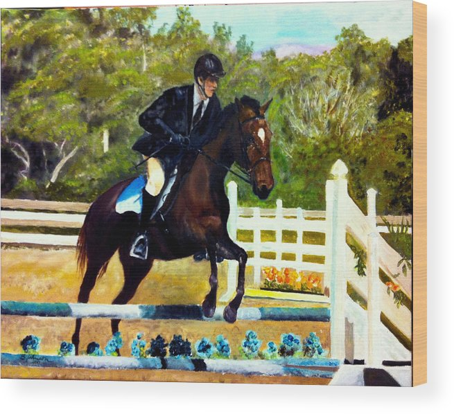 Horse Wood Print featuring the painting Running Free by Beverly Johnson