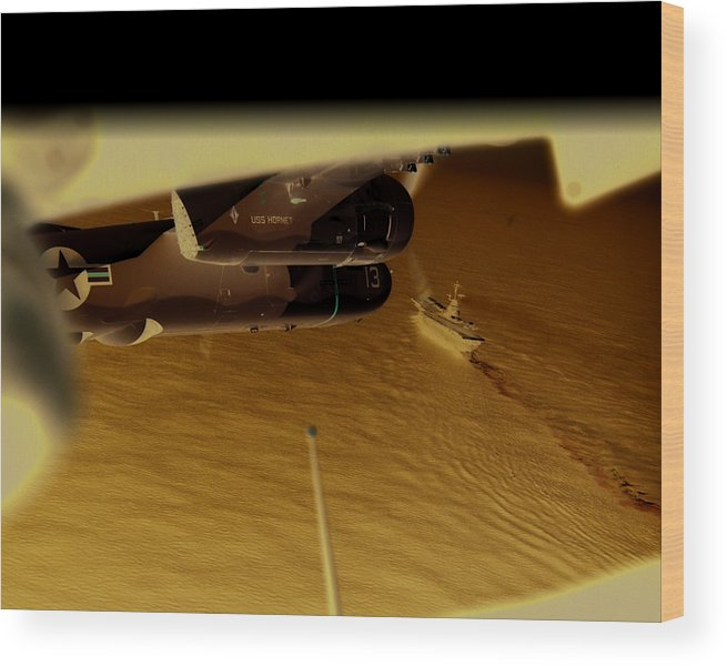 Naval Aviation Wood Print featuring the photograph S2s in delta by Mike Ray
