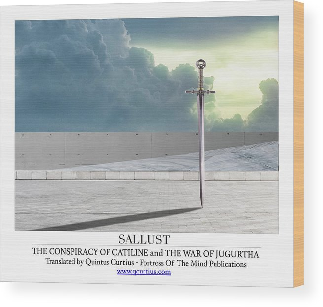 Sallust Wood Print featuring the digital art Sallust by Quintus Curtius