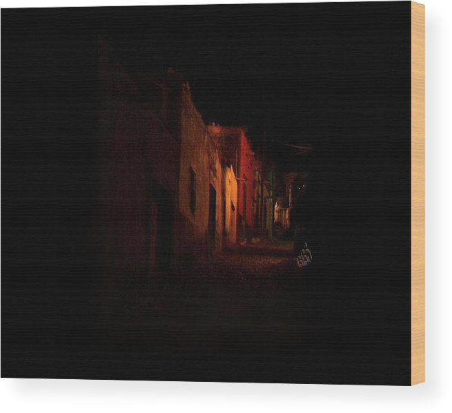 Mexico Wood Print featuring the photograph Sereno Street by Kathy Simandl