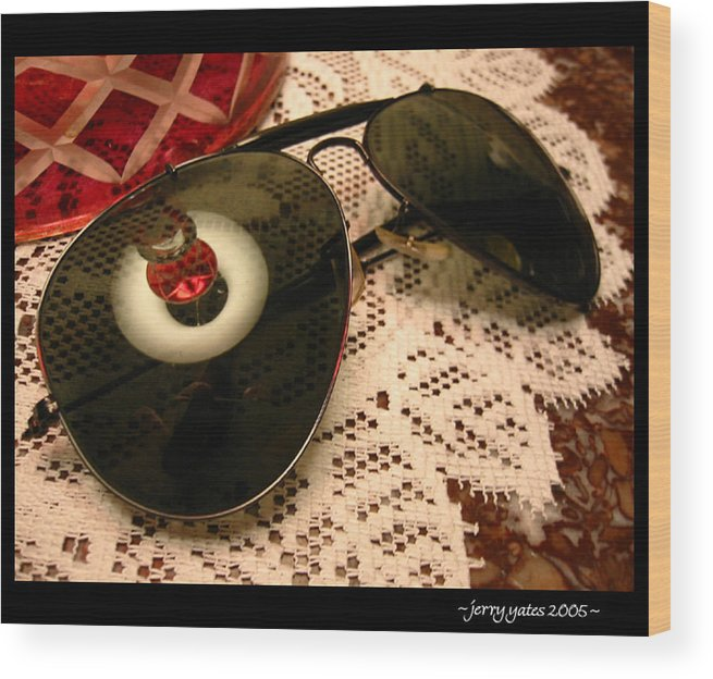 Sunglasses Wood Print featuring the photograph Shades by Gerard Yates