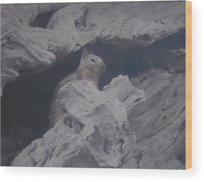 Squirrel Wood Print featuring the photograph Silent Observer by Pharris Art