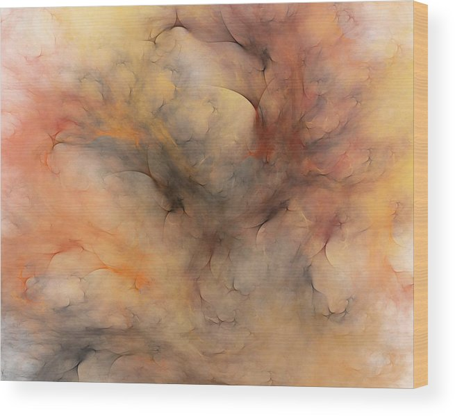 Abstract Wood Print featuring the digital art Stormy by David Lane