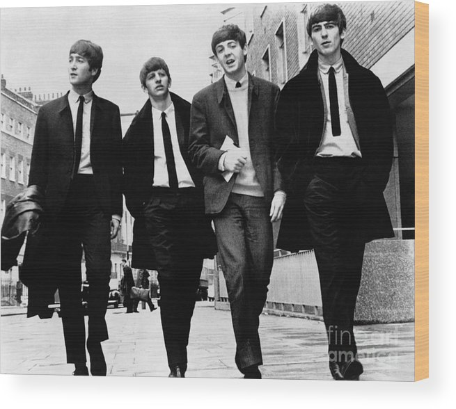 1963 Wood Print featuring the photograph The Beatles by Granger