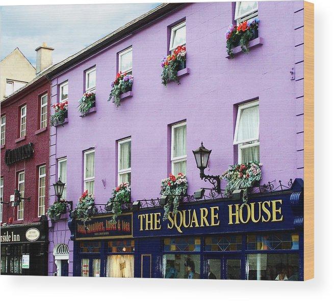 Irish Wood Print featuring the photograph The Square House Athlone Ireland by Teresa Mucha