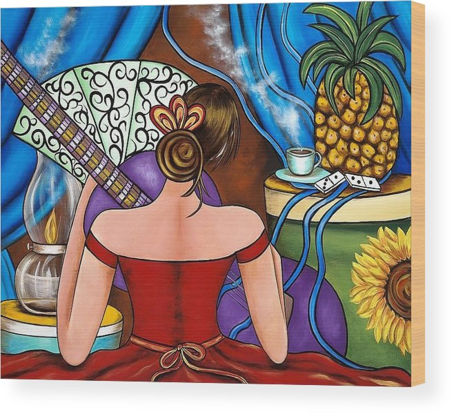 Cuba Wood Print featuring the painting You Belong To Me by Annie Maxwell