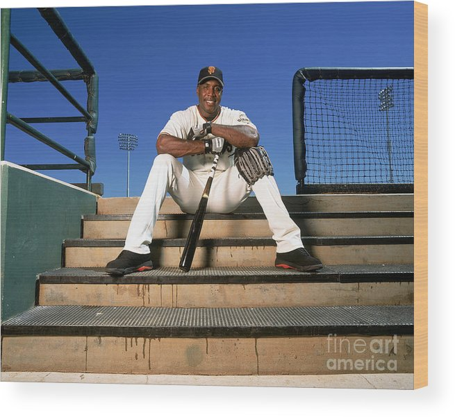 People Wood Print featuring the photograph Barry Bonds by Andy Hayt