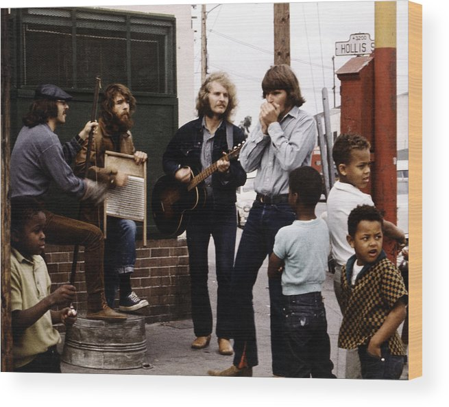 Music Wood Print featuring the photograph Photo Of Creedence Clearwater Revival by Michael Ochs Archives