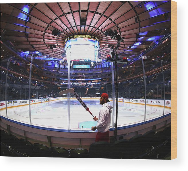 Playoffs Wood Print featuring the photograph Washington Capitals V New York Rangers by Bruce Bennett