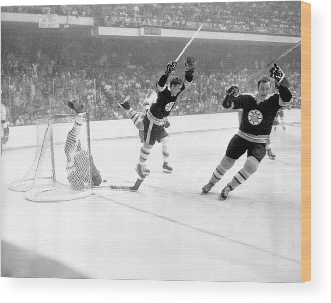 Playoffs Wood Print featuring the photograph 1970 Stanley Cup Finals - Game 4 St by B Bennett