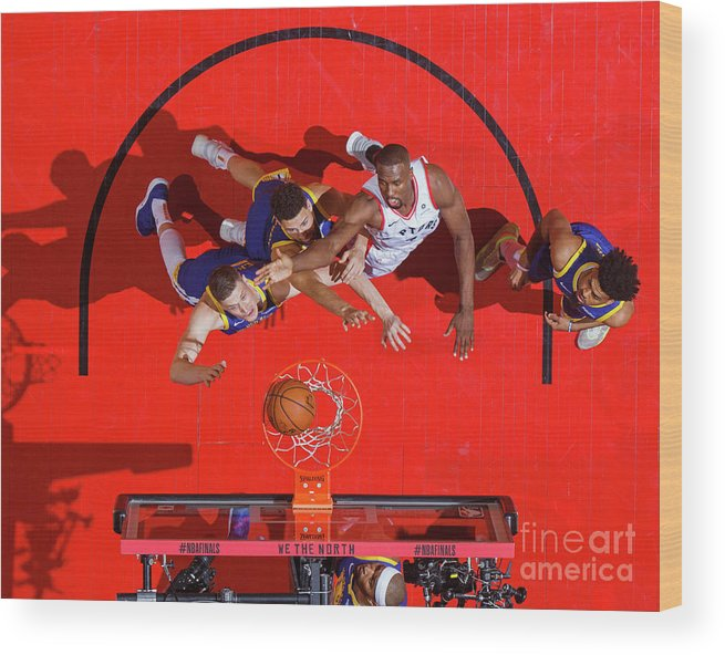 Playoffs Wood Print featuring the photograph 2019 Nba Finals - Golden State Warriors by Mark Blinch