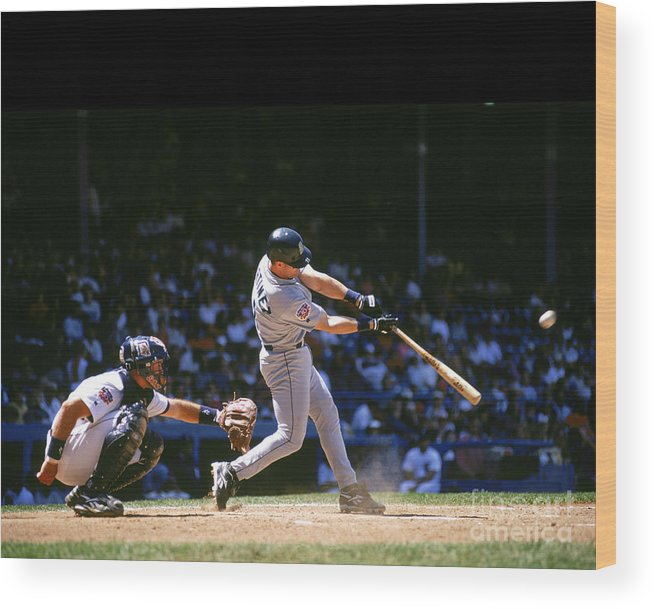 American League Baseball Wood Print featuring the photograph Mlb Photos Archive by John Reid Iii