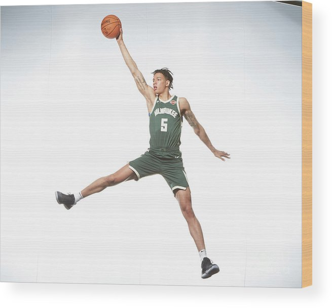 Nba Pro Basketball Wood Print featuring the photograph Rookie Photo Shoot 2017 by Nathaniel S. Butler