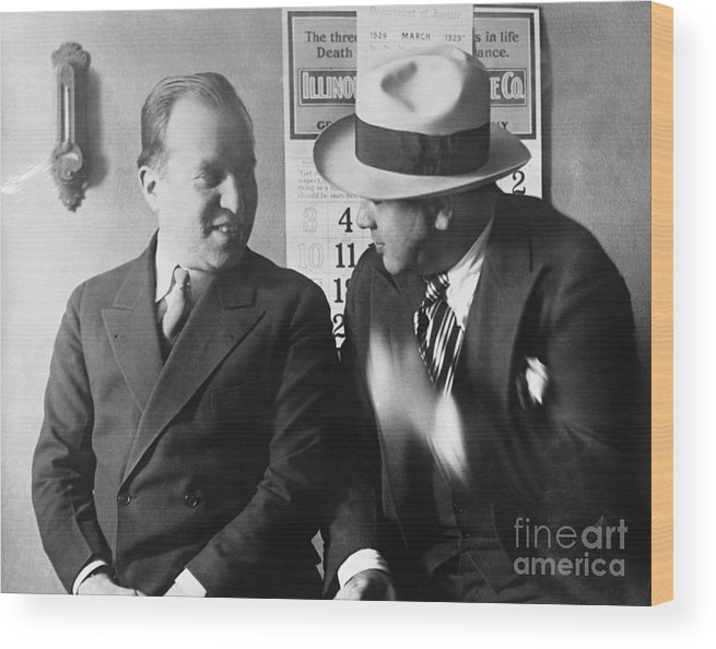 People Wood Print featuring the photograph Al Capone And Benjamin Epstein by Bettmann