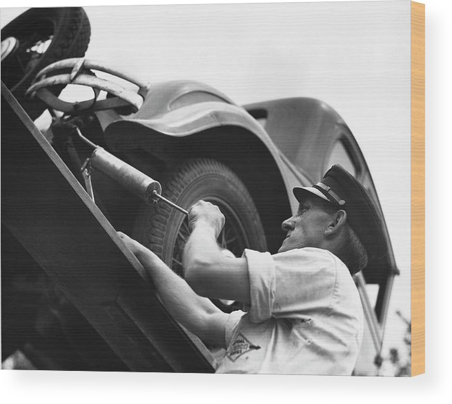 Working Wood Print featuring the photograph Auto Mechanic Vintage by George Marks