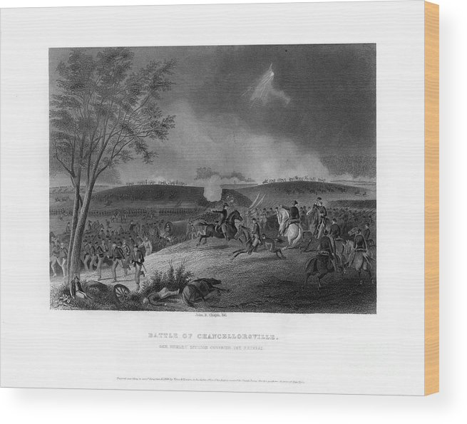 Engraving Wood Print featuring the drawing Battle Of Chancellorsville, Fought by Print Collector