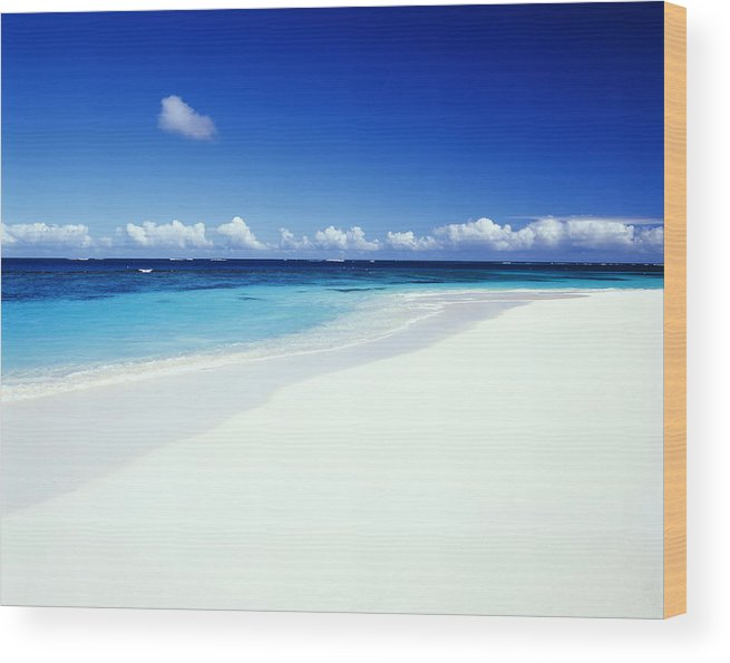 Scenics Wood Print featuring the photograph Caribbean Anguilla Shoal Bay Beach by Buena Vista Images