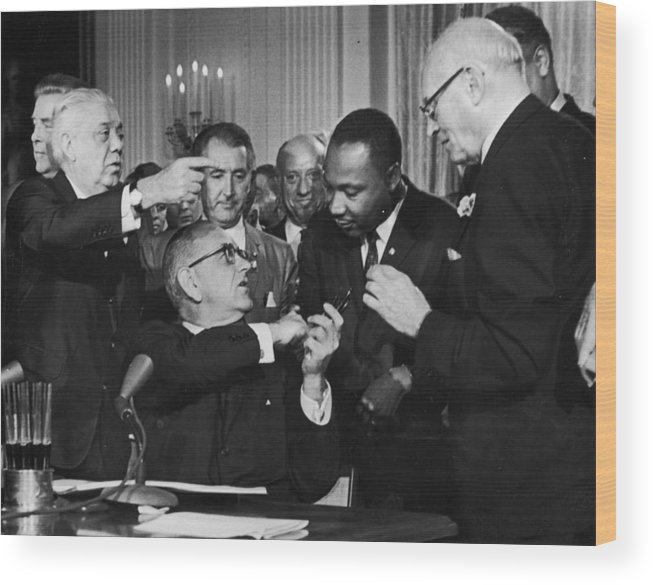 Civil Rights Act Wood Print featuring the photograph Civil Rights Bill by Hulton Archive