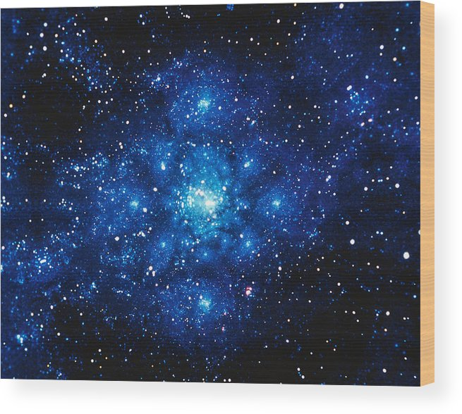 Majestic Wood Print featuring the digital art Constellation Digitally Generated Image by Stocktrek