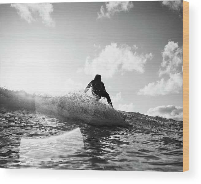 Three Quarter Length Wood Print featuring the photograph Crouching by Mark Leary