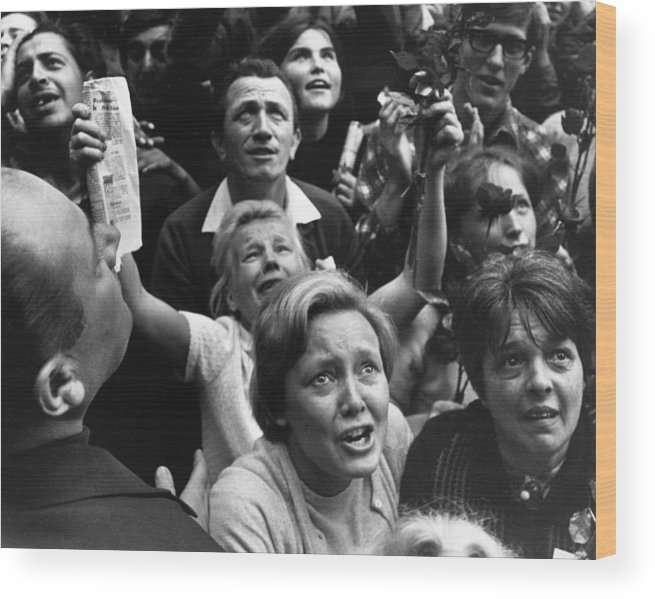 Crowd Wood Print featuring the photograph Czech Crowd by Reg Lancaster