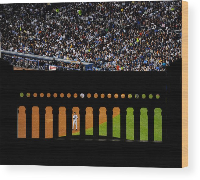 People Wood Print featuring the photograph Derek Jeter Can Be Seen Through The by New York Daily News Archive