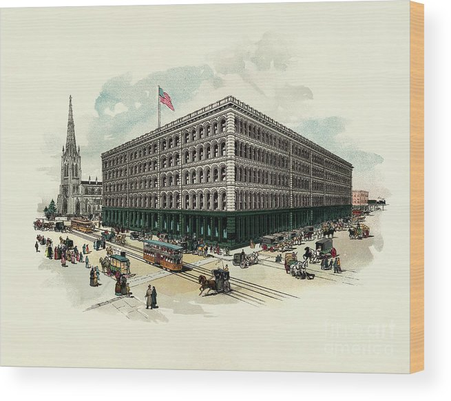 East Wood Print featuring the photograph Exterior Of A T Stewart Department Store by Bettmann