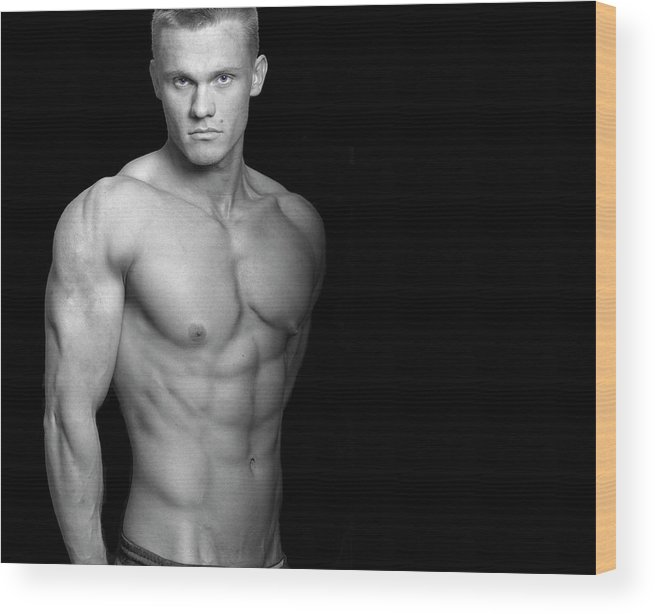 Cool Attitude Wood Print featuring the photograph Fitness Portrait by Ragnak