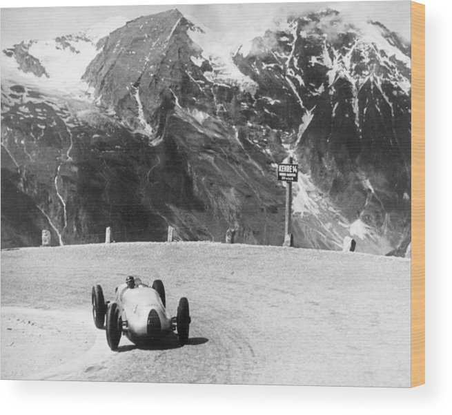 Country And Western Music Wood Print featuring the photograph Hermann Muller In An Auto Union, German by Heritage Images