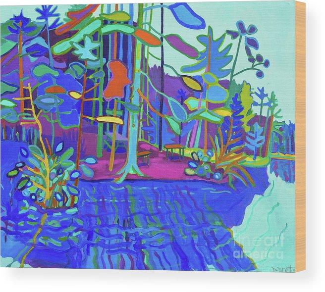 Massapoag Wood Print featuring the painting Massapoag Point by Debra Bretton Robinson