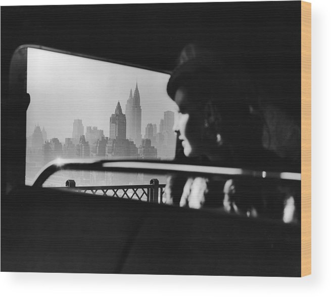 People Wood Print featuring the photograph New York City Midtown Skyline by Pictorial Parade