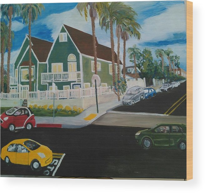 Painting Wood Print featuring the painting OB House by Andrew Johnson