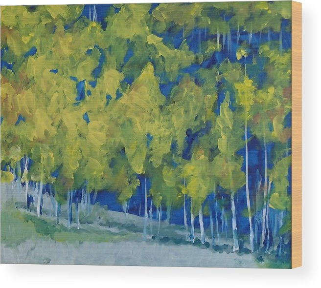 Forest Wood Print featuring the painting Park City Forest by Philip Fleischer