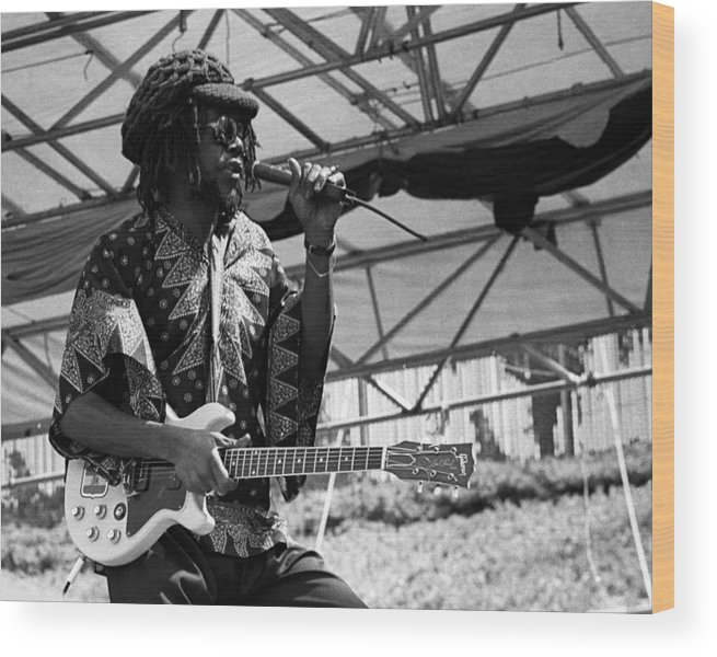 Music Wood Print featuring the photograph Peter Tosh Live by Larry Hulst