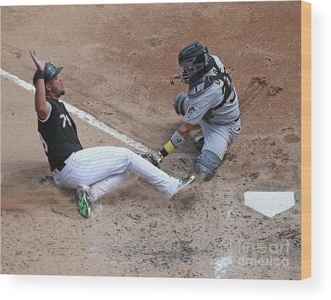 American League Baseball Wood Print featuring the photograph Pittsburgh Pirates V Chicago White Sox by Jonathan Daniel