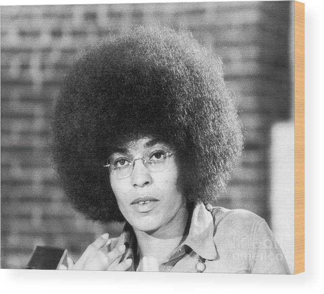 Education Wood Print featuring the photograph Portrait Of Angela Davis by Fred W. Mcdarrah