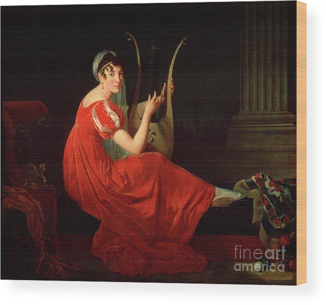 Oil Painting Wood Print featuring the drawing Portrait Of Josephine Budayevskaya by Heritage Images