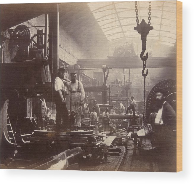 England Wood Print featuring the photograph Shipbuilding by Hulton Archive