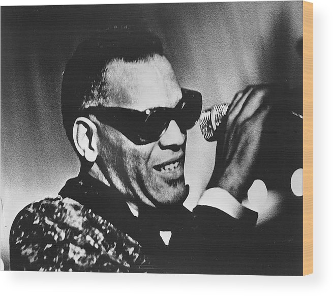 People Wood Print featuring the photograph Singer Ray Charles by Afro Newspaper/gado