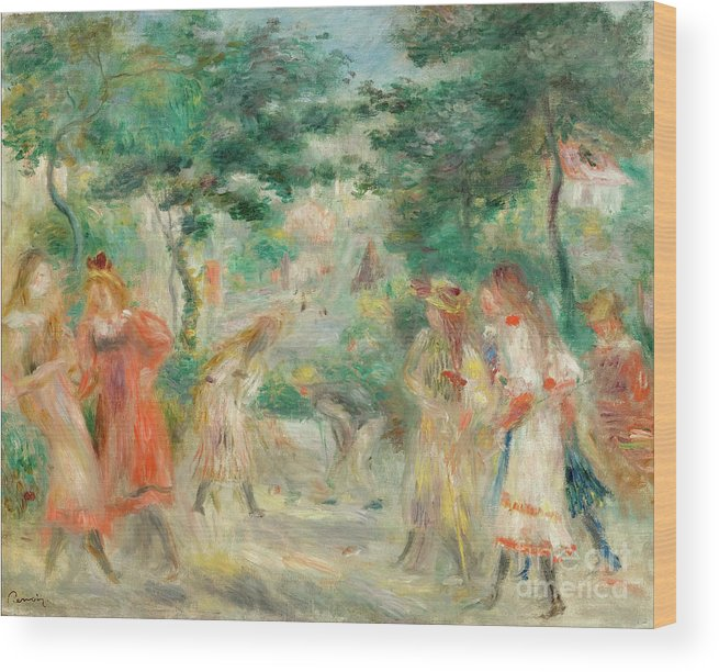 Oil Painting Wood Print featuring the drawing The Croquet Party Girls In The Garden by Heritage Images
