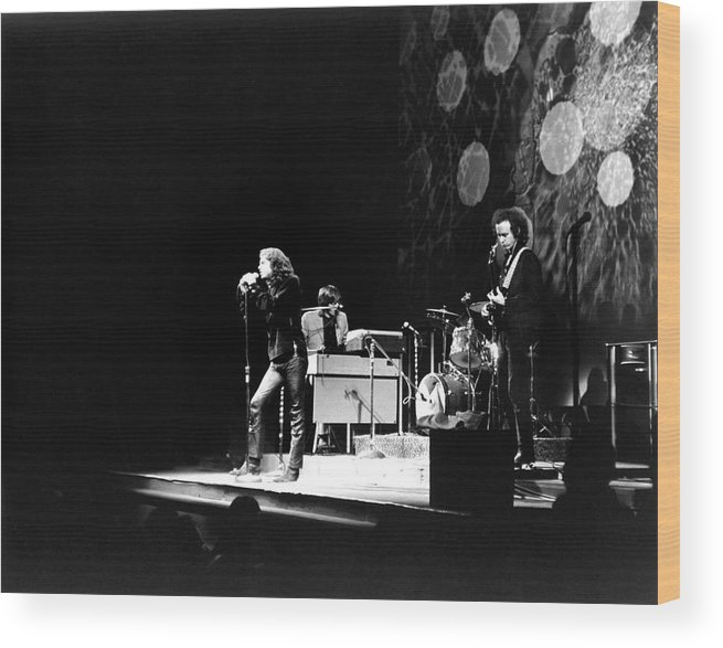Rock Music Wood Print featuring the photograph The Doors At The Fillmore East by Fred W. McDarrah