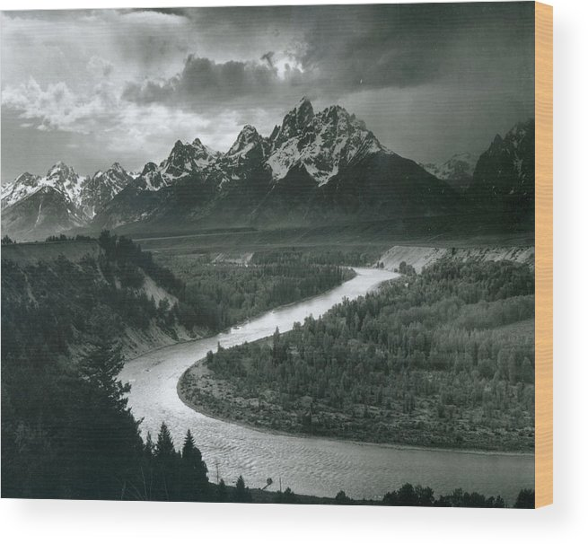 Social Issues Wood Print featuring the photograph The Tetons - Snake River by Archive Photos