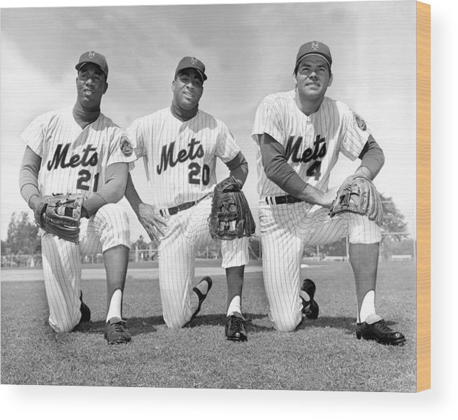 American League Baseball Wood Print featuring the photograph What Could Be The New York Mets by New York Daily News Archive