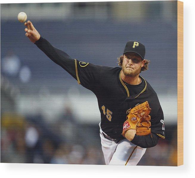 American League Baseball Wood Print featuring the photograph Gerrit Cole by Matt Sullivan