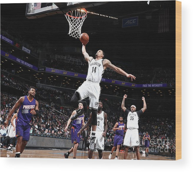Nba Pro Basketball Wood Print featuring the photograph K.j. Mcdaniels by Nathaniel S. Butler