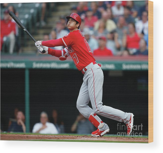 People Wood Print featuring the photograph Mike Clevinger by Ron Schwane
