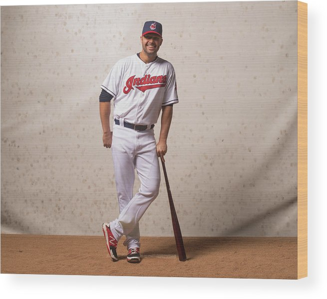 American League Baseball Wood Print featuring the photograph Nick Swisher by Rob Tringali