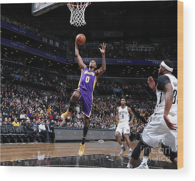 Nba Pro Basketball Wood Print featuring the photograph Nick Young by Nathaniel S. Butler